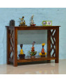 Solid Wood Sapphire Cross Console Table