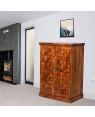 Solid Wooden Traditional Niwar Patti Design Bar Cabinet