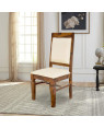 Solid Wood Peshtigo Back Cloth Dining Table and Chair