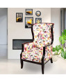 Solid Wood Asetto Wing Chair