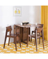 Solid Wood Folding Dining Table