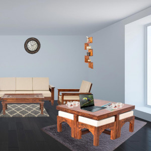 Trendy Coffee Table Set with Four Stools