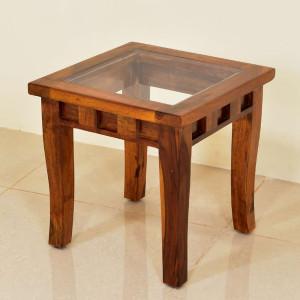 Solid Wood Zinnia Peg Side Table