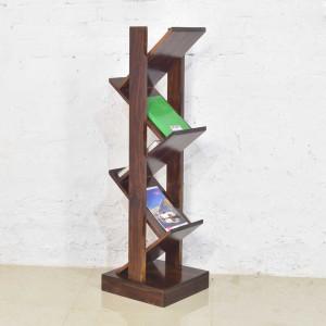 Sheesham Solid Wood Zigzag Book Shelf
