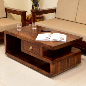 Striado Double Top Drawer Center Table