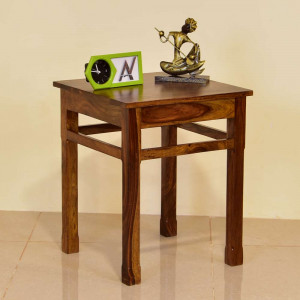Solid Wood Polka Side Table and Peg Table