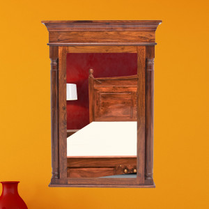 Solid Wood Jharokha Mirror Frame