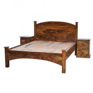 Solid Wood Harley Bed Without Storage