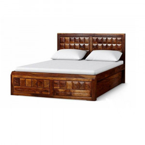 Solid Wooden Florence Diamond Design Bed