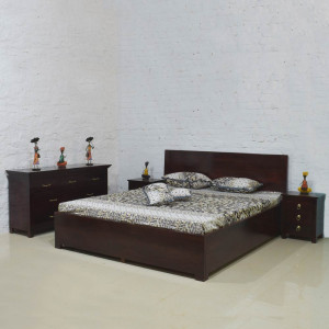 Solid Wood Side Trolly Bed With Storage