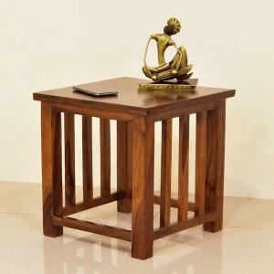 Deux Wooden Peg Side Table