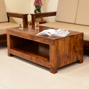 Pole Solid Wood Coffee Table