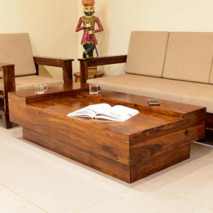 Solid Wood Duble Top Center Table