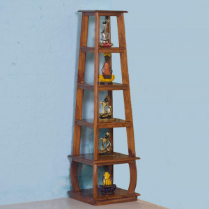 Solid Wood Portable Slim Corner Table