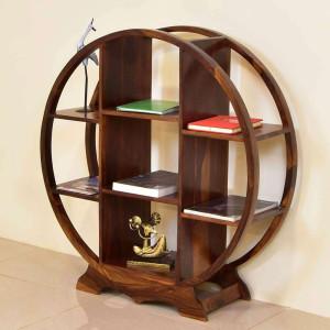 Wooden Cricle Bookshelf 3feet