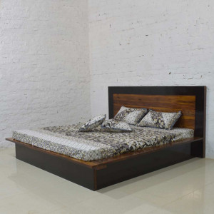 Solid Wooden Walken Bed Storage Hydraulic