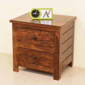 Solid Wood Parish Sheesham Bed Side Table