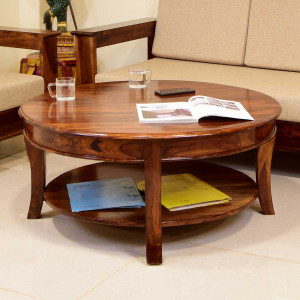 Brent Solid Wood Double Top Center Table