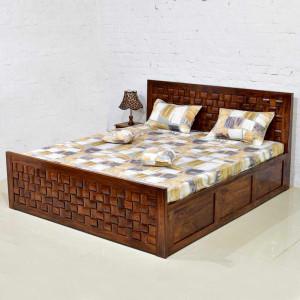 Solid Wooden Niwar Patti Bed Storage