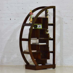 Wooden Moon Bookshelf