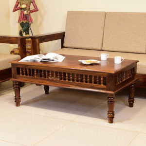 Solid Wooden Top Center Table