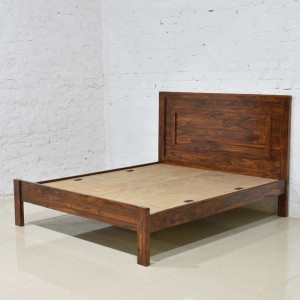 Solid Wood Bacon Bed None Storage