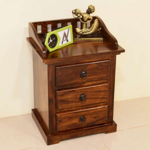 Sonic Bedside Table with Three Drawers