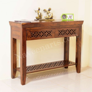 Solid Wooden Side Table and Avian Console Table
