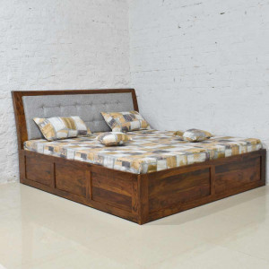 Solid Wood Bacon Bed Box Storage Bed