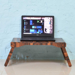 Solid Brown Wood Follding Laptop Tables
