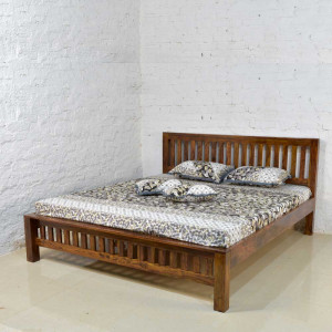 Solid Wood Bed Without Storage