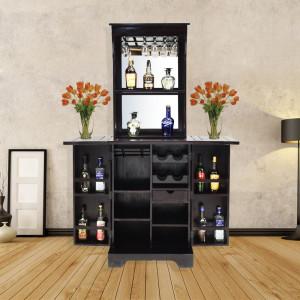 Solid Sheesham Wood Brass Romeo Bar