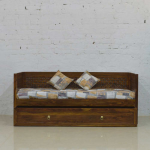 Solid Wooden Sofa Cum Trolly Bed