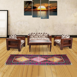 Siramika Solid Wood Sheesham Sofa Set