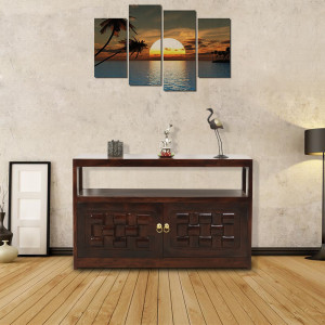 Solid Wood Classical Sideboard Cabinet