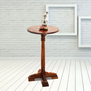 Tall Round Peg Side Table