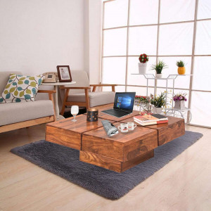 Solid Wood Contrast Group Center Tables