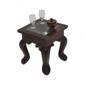 Ambien Wooden Glass Top Peg Table