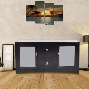 Emaada Solid Wood Sideboard Cabinet