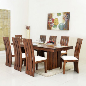 Solid Wooden Wertex Sheehsam Wood Dining Table
