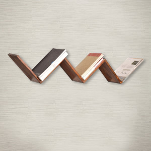 W-Shape Multi-Purpose Wooden Wall Shelf