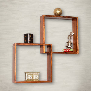 Wooden Boxy Modular Wall Shelf