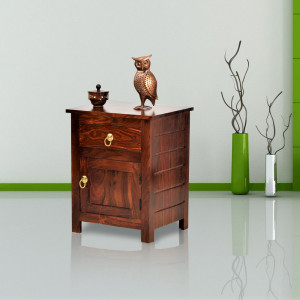 Sheesham Wood Bedside Table for Bedroom