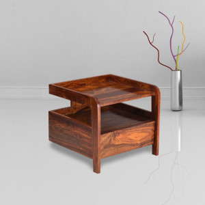 Nedra Bedside Table Honey, Mahogany, Walnut Finish