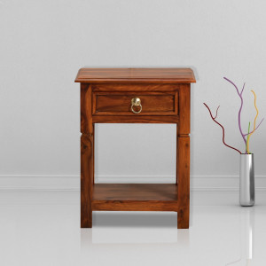 Solid Wood Sheesham Elegant Bedside Table