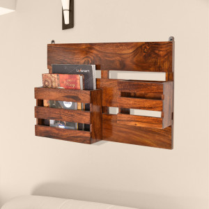 Wooden Compact Wall Shelf