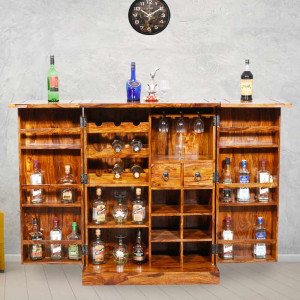 Solid Sheesham Wood Tiles Design Regular Bar