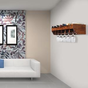 Wall Hanging Solid Sheesham Wood Bar