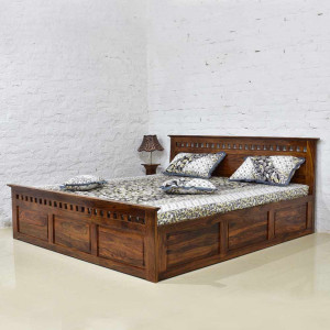 Solid Wood Kuber Sheesham bed with Storage