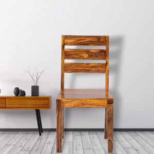 Simple Solid Sheesham Wood Dining Chair